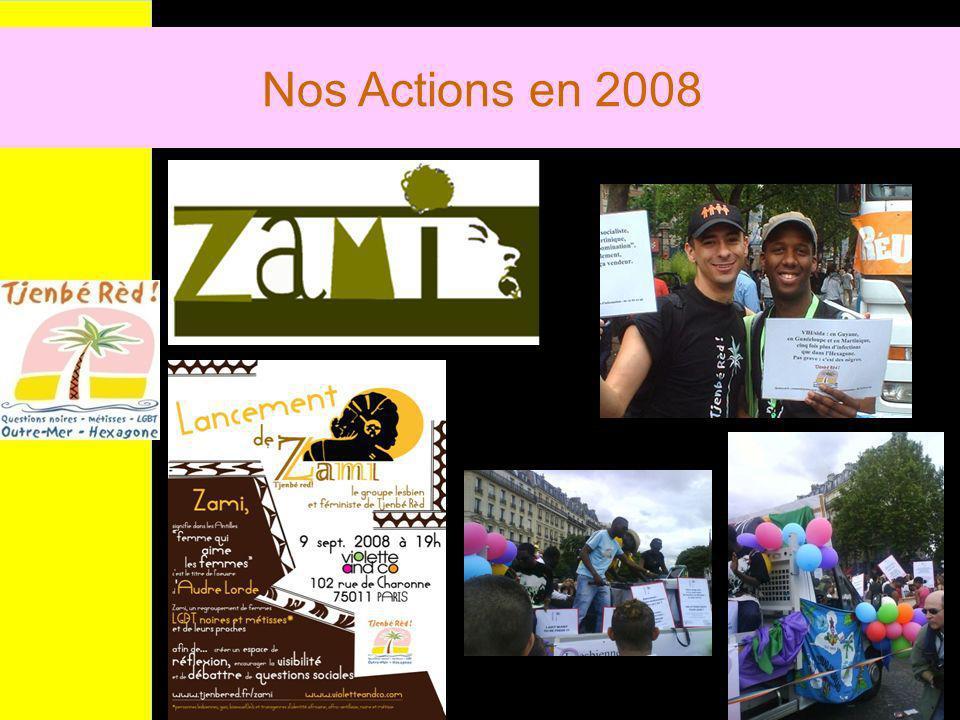 Nos Actions en 2008