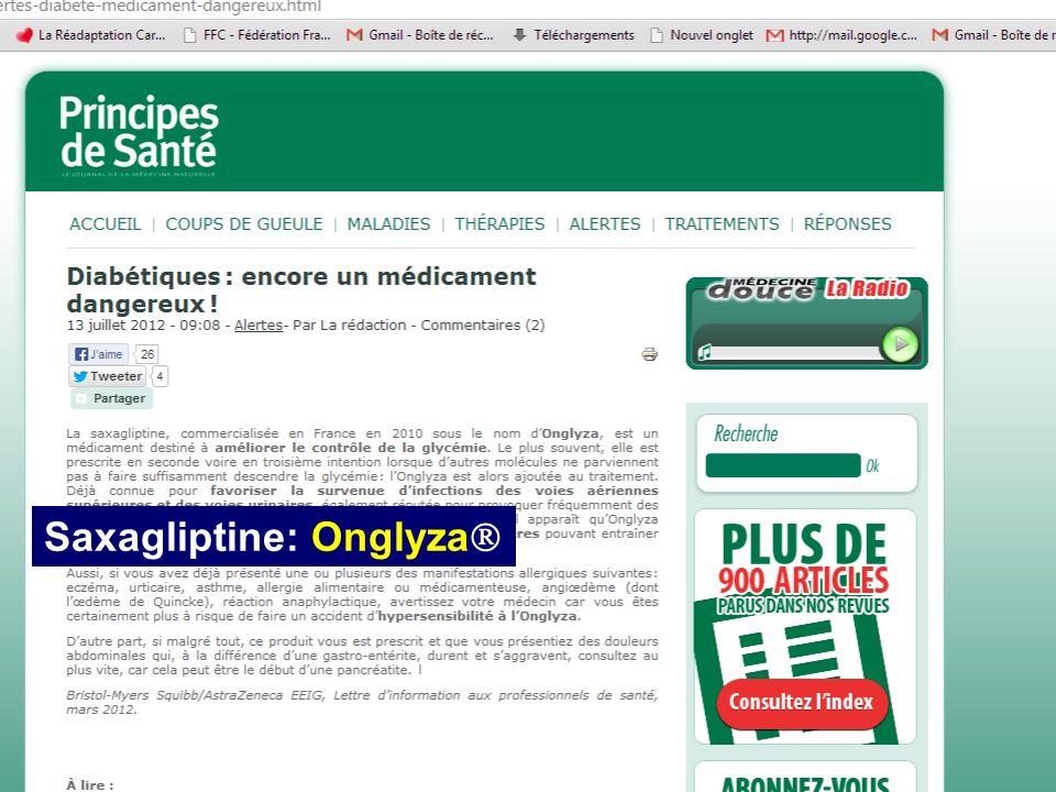 CHU Dijon Bruno Vergès novembre 2013 Saxagliptine: Onglyza