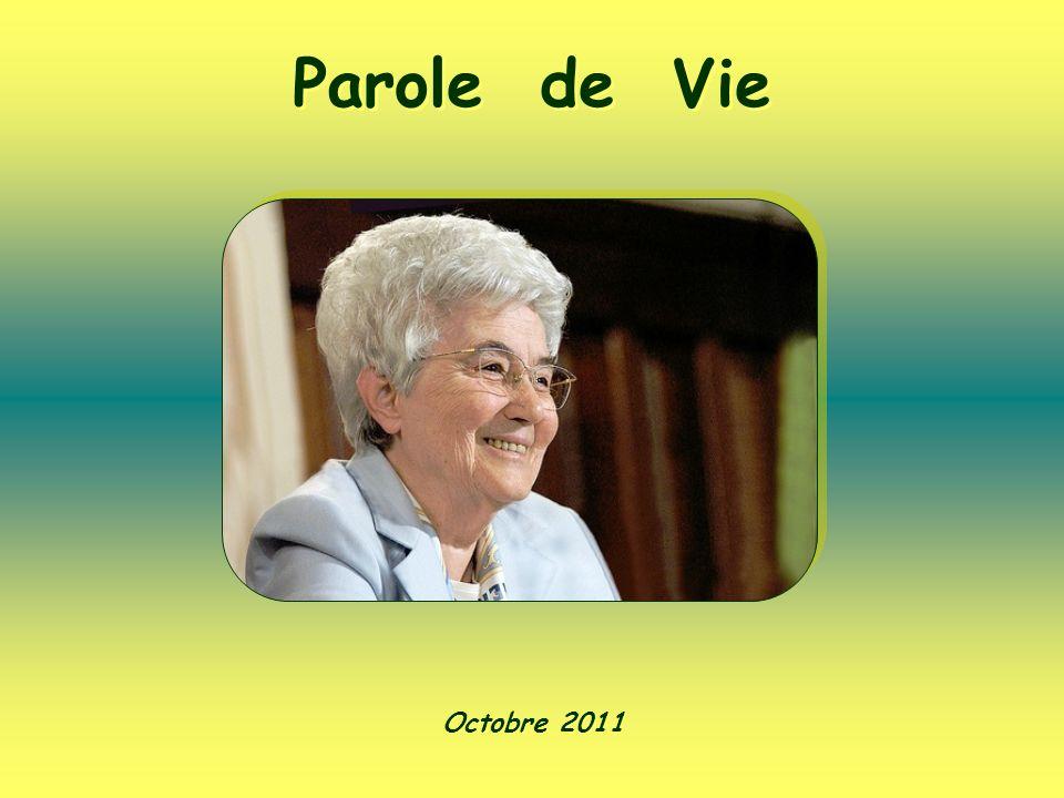 Parole de Vie Octobre 2011