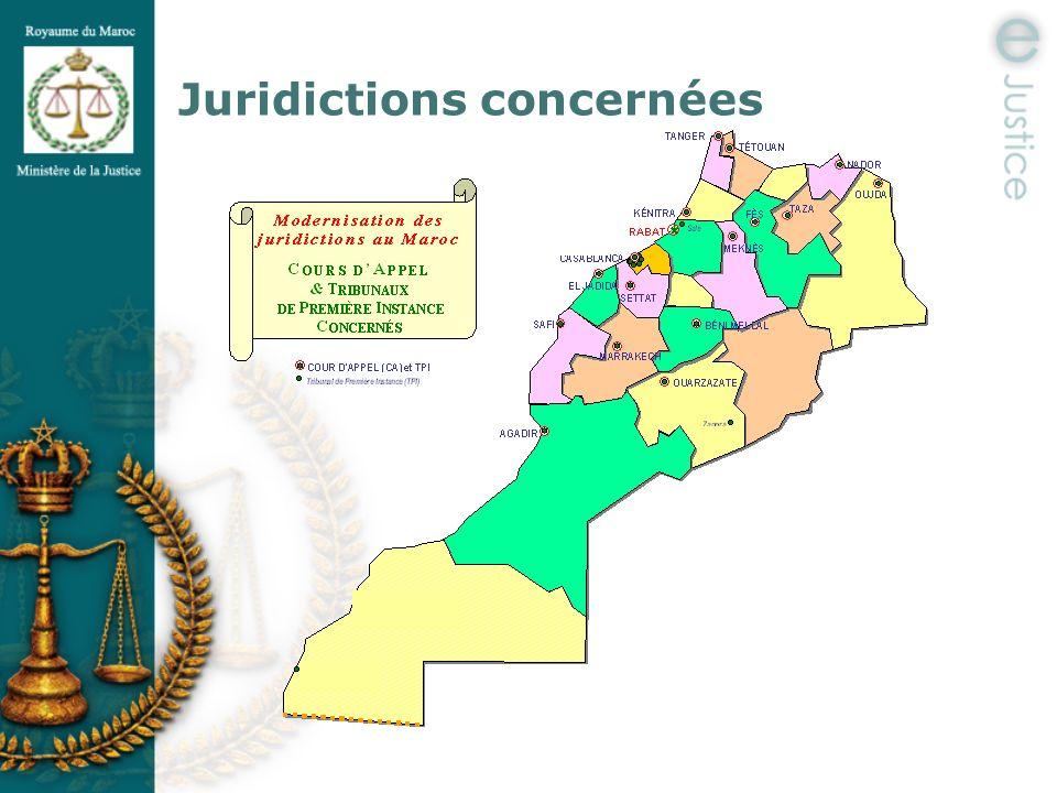 Juridictions concernées