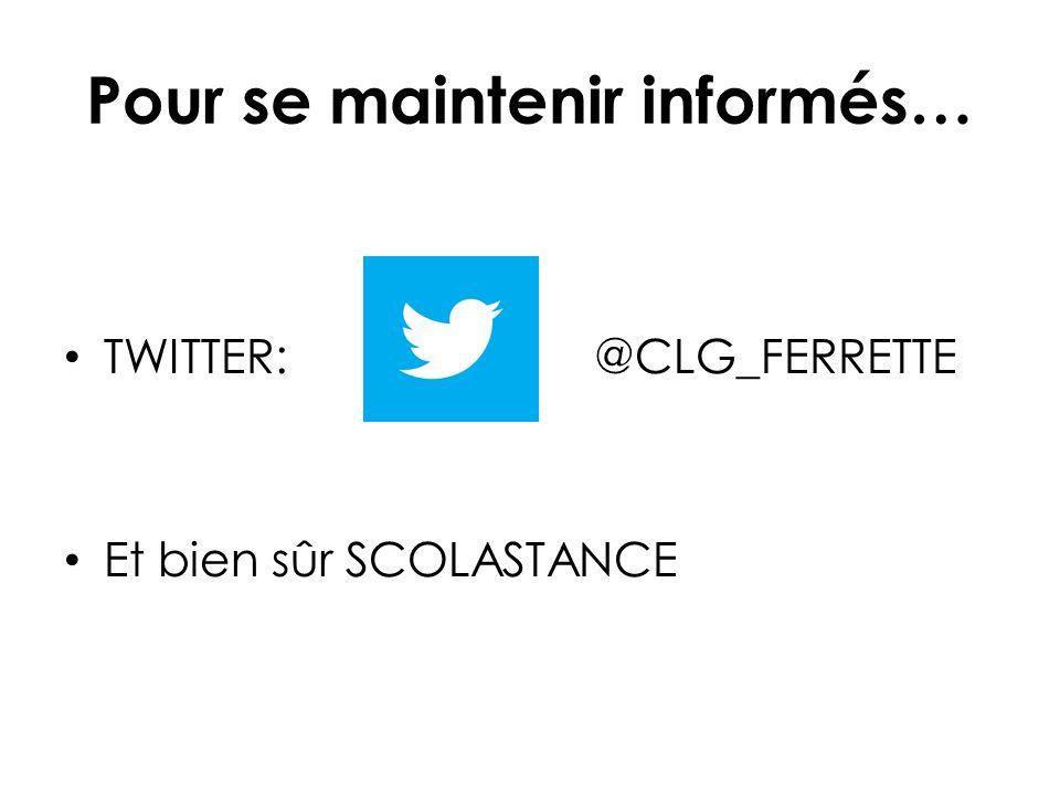 TWITTER: @CLG_FERRETTE Et bien sûr SCOLASTANCE