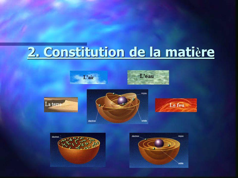 2. Constitution de la mati è re