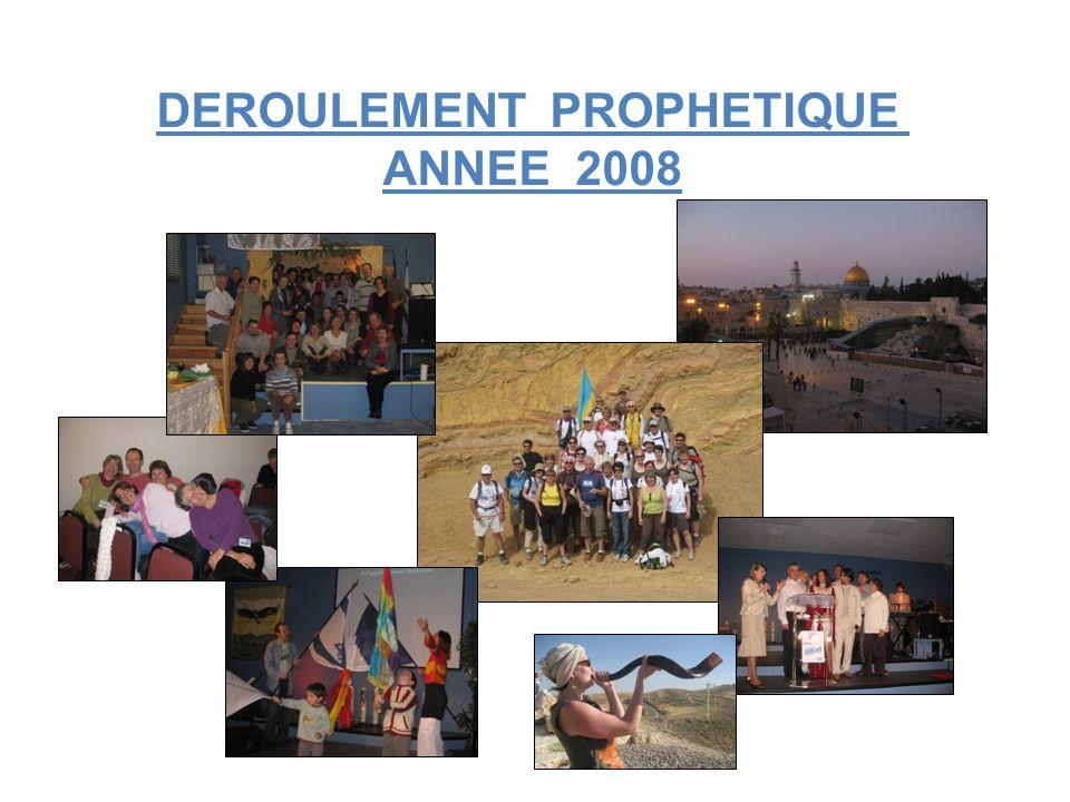 DEROULEMENT PROPHETIQUE ANNEE 2008