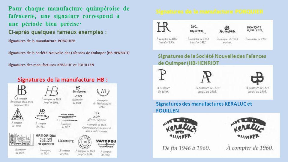 Voilà plus de 3 siècles - depuis l ' installation de Jean - Baptiste Bousquet à Quimper, que l ' histoire de la faïencerie HB - Henriot et la ville de