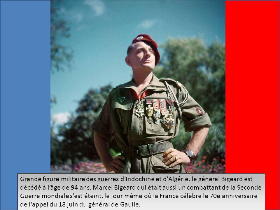Grande figure militaire des guerres d Indochine et d Algérie, le général Bigeard est décédé à lâge de 94 ans.