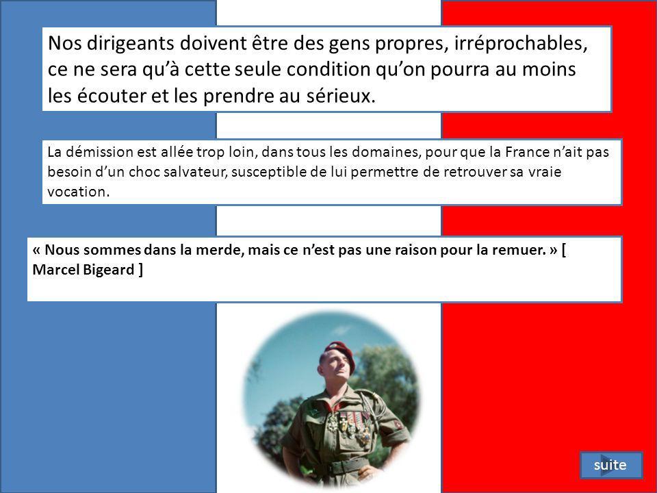 La seule protection réellement efficace qui vaille, cest de sortir la France de son inertie, de sa surdité et de son aveuglement.