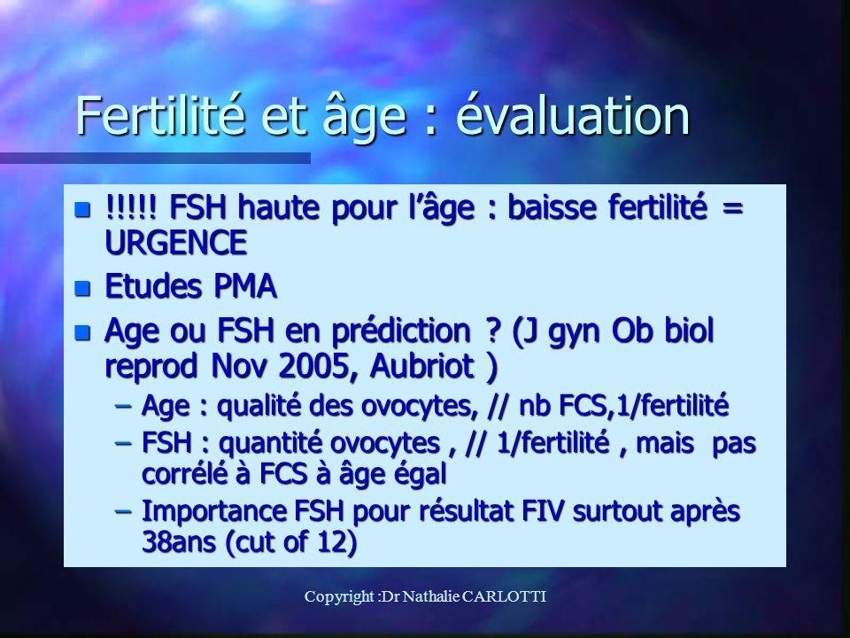 Fertilité et âge : évaluation n !!!!.