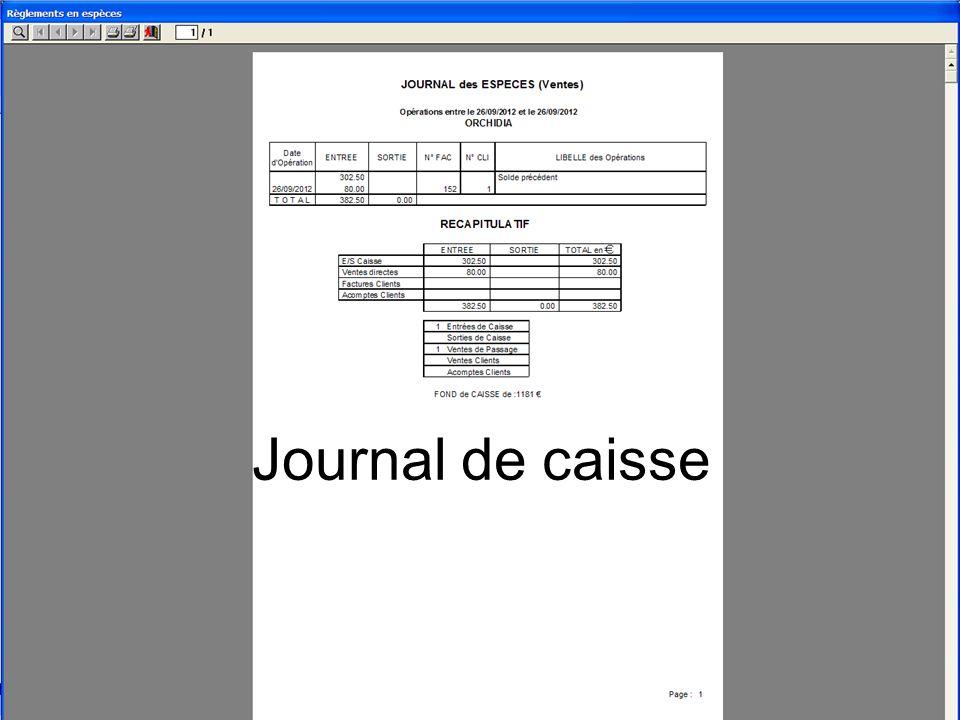 Journal de caisse