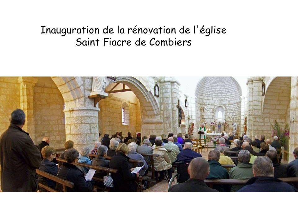 Inauguration de la rénovation de l église Saint Fiacre de Combiers