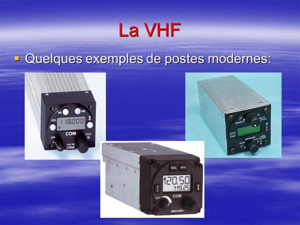 La VHF Les postes que nous utilisons couvrent une partie (118,000 à 136,975 MHz) des ondes à très haute fréquence (VHF) subdivisée en 25 KHz (ou 8,33
