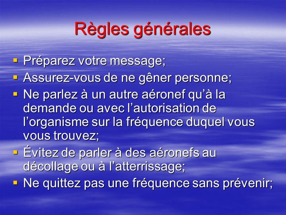11 – ANNEXES (suite 3) PROGRAMME THEORIQUE DE LEPREUVE FACULTATIVE DE RADIOTELEPHONIE (2) Procédures de départ Procédures de détresse et durgence Vérification radio.