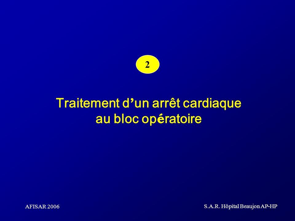 AFISAR 2006 S.A.R. Hôpital Beaujon AP-HP Traitement d un arrêt cardiaque au bloc op é ratoire 2
