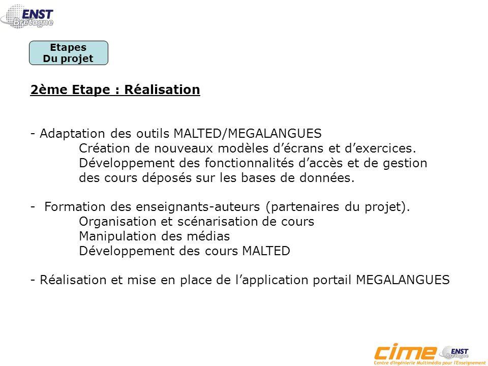 1 ère Etape : Etude et spécifications - Analyse des besoins et des modalités de mise en œuvre du dispositif de conception et diffusion de contenus pédagogiques.