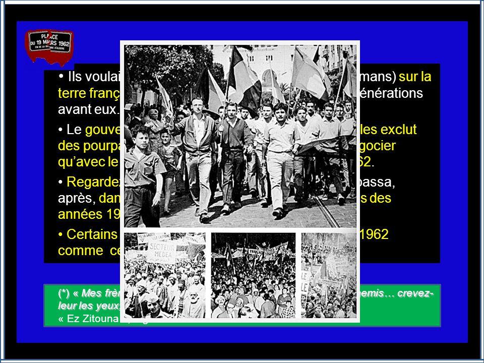 JUIN 1962 DENI DE MÉMOIRE Ce diaporama concerne le rappel de faits réels conduisant, sans concession, ni humanité, à : de nombreux morts et disparus q
