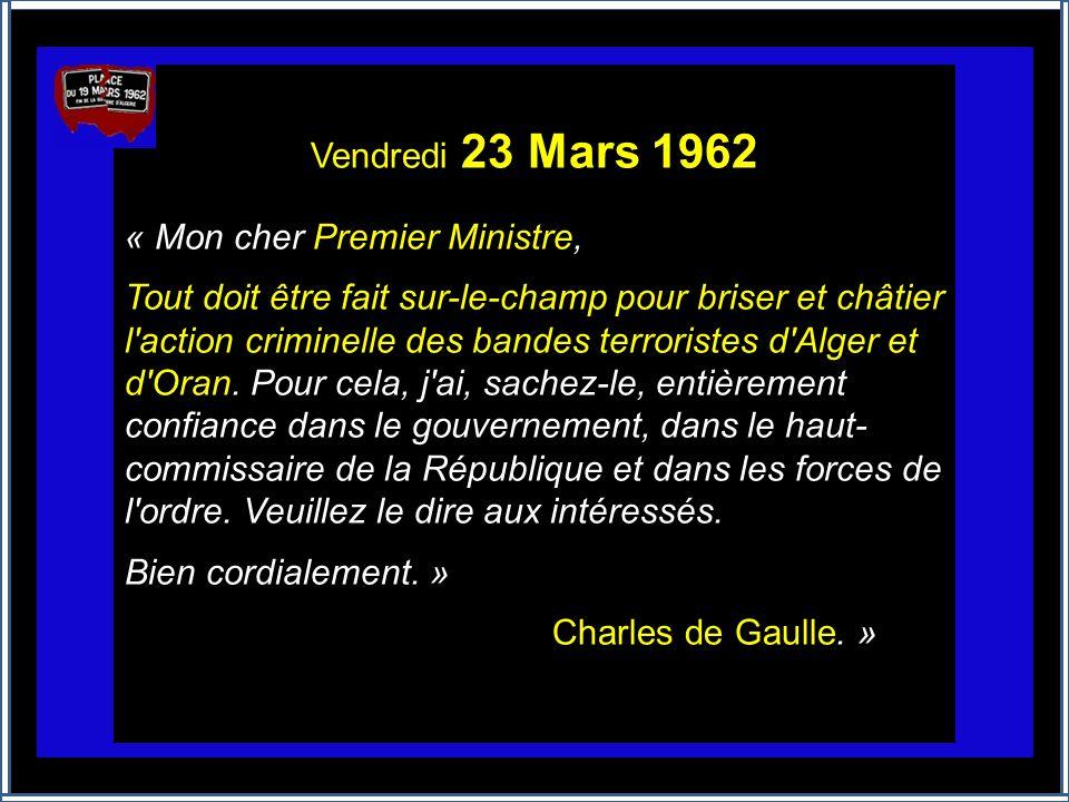 23 AVRIL 1961 : Une « petite phrase » lourde de conséquences Suite au