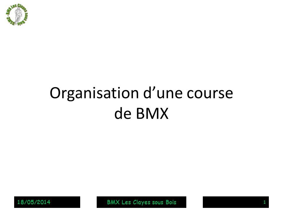 Organisation dune course de BMX 1 18/05/2014BMX Les Clayes sous Bois