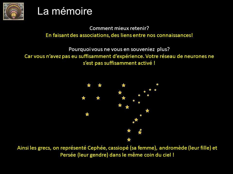 La mémoire Comment mieux retenir? En faisant des associations, des liens entre nos connaissances! Pourquoi vous ne vous en souveniez plus? Car vous na