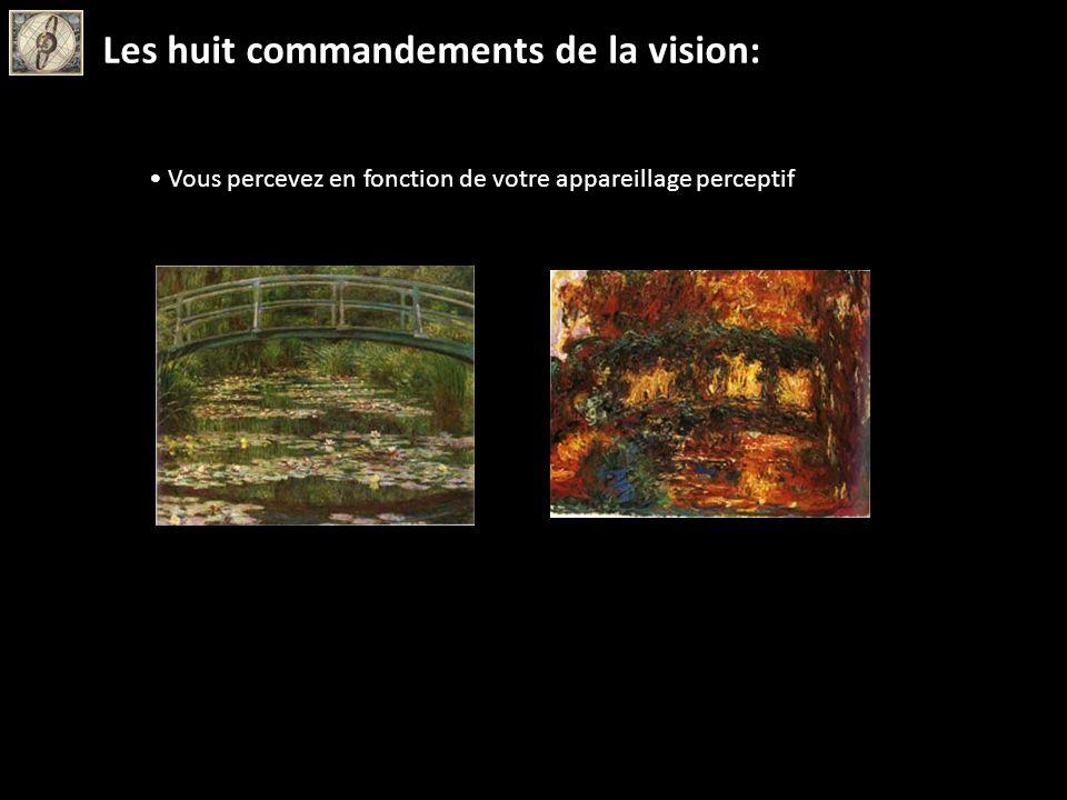 Vous percevez en fonction de votre appareillage perceptif Les huit commandements de la vision: