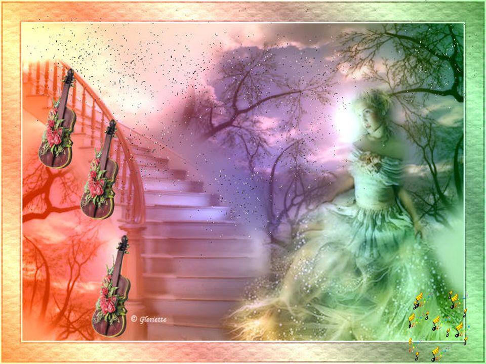 Cest sur un air de violons Que jentends les plus belles chansons Sur des mélodies de mille et une nuits La lune suit la cadence de la magie… Les music