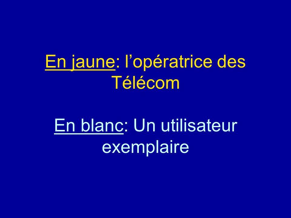 Diaporamas-a-la-con.com En jaune: lopératrice des Télécom En blanc: Un utilisateur exemplaire Diaporama PPS réalisé pour http://www.diaporamas-a-la-co