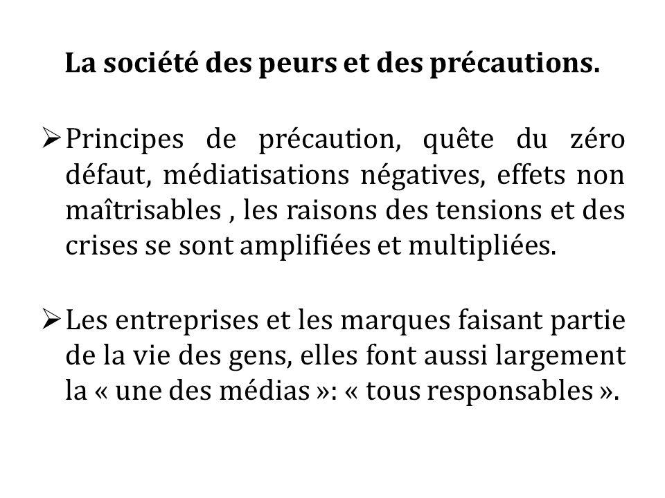 La société des peurs et des précautions. Principes de précaution, quête du zéro défaut, médiatisations négatives, effets non maîtrisables, les raisons