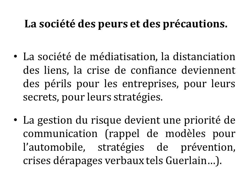 La société des peurs et des précautions.