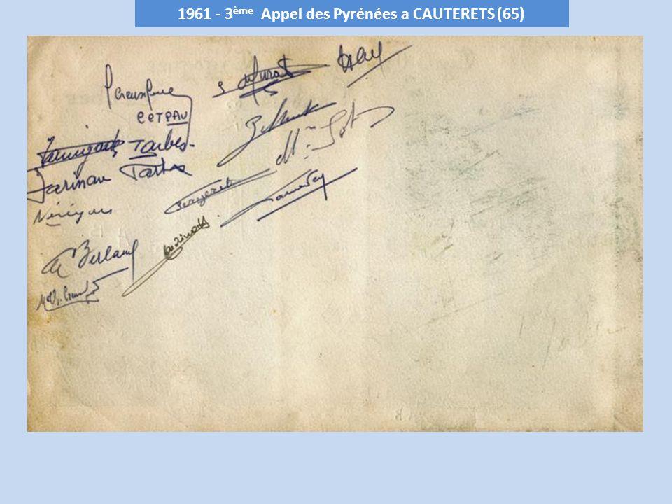 1962 - 4 ème Appel des Pyrénées a LOURDIOS (64)