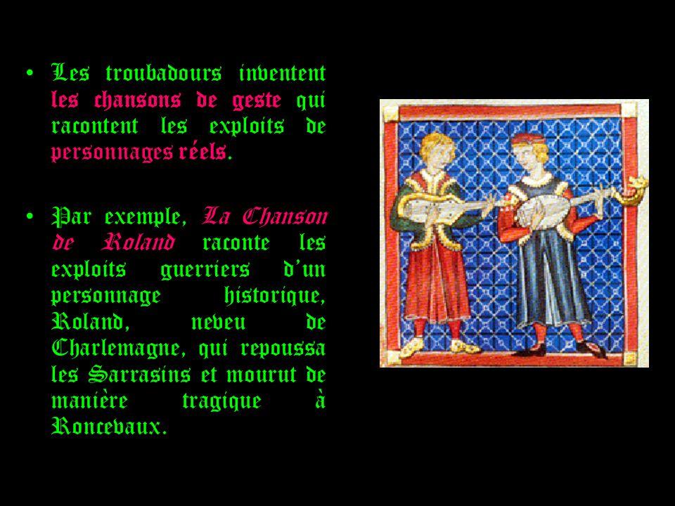 À partir du XII ème siècle, apparaissent les premiers romans, écrits en langue romane (=ancien français).