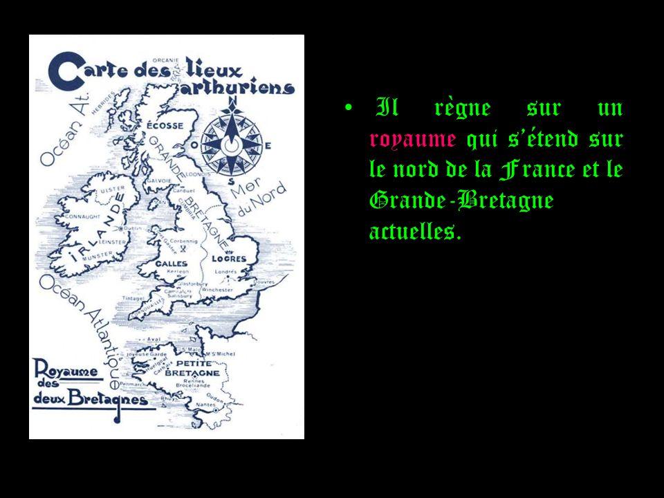 Il règne sur un royaume qui sétend sur le nord de la France et le Grande-Bretagne actuelles.