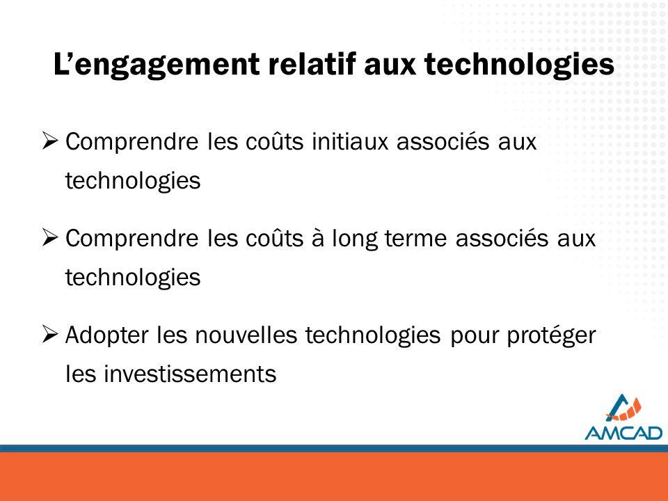 Lengagement relatif aux technologies Comprendre les coûts initiaux associés aux technologies Comprendre les coûts à long terme associés aux technologi