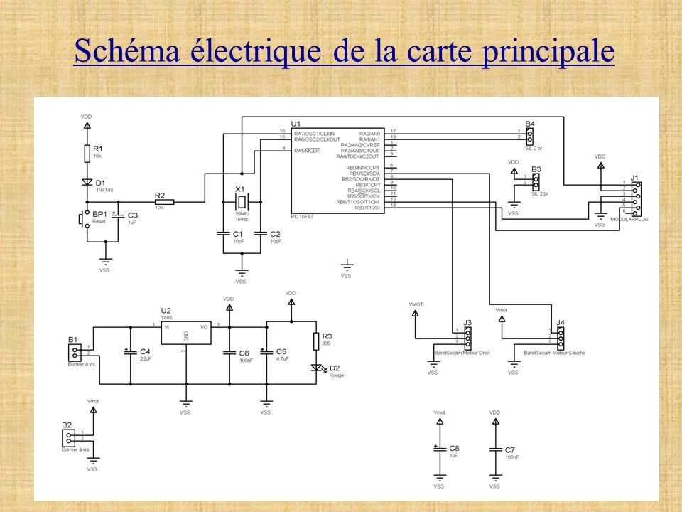 Schéma électrique de la carte principale