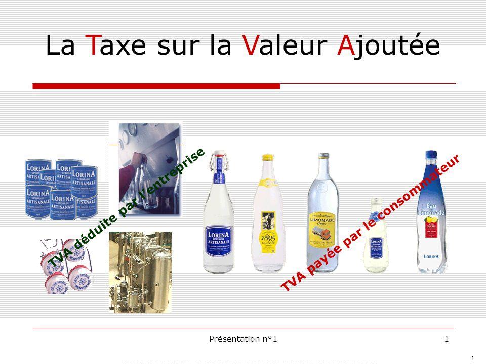 1 Cours de Master »Finance dentreprise SEF » auteur: Peggy Gaumont Présentation n°11 La Taxe sur la Valeur Ajoutée TVA payée par le consommateur TVA d