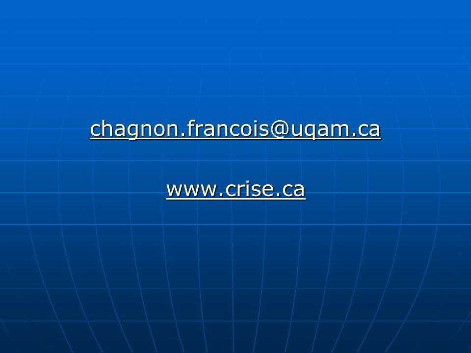 chagnon.francois@uqam.ca www.crise.ca