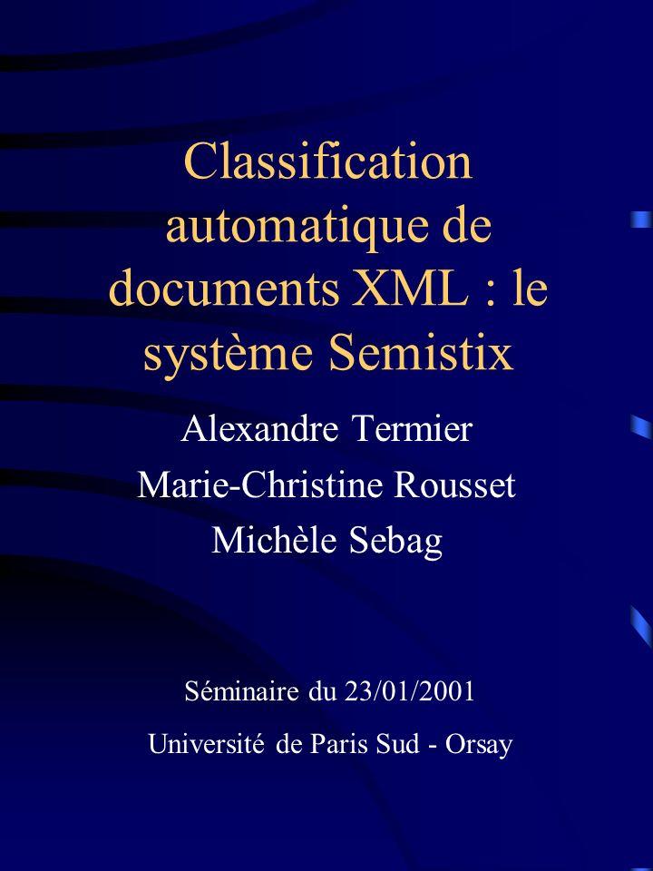 2 XML Données semi-structurées Modèle darbres (XML) Langages de requêtes: Lorel, XQL, XSL… select from where Picasso Guernica the bombing of the town...