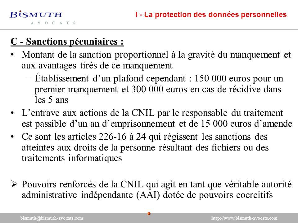 C - Sanctions pécuniaires : Montant de la sanction proportionnel à la gravité du manquement et aux avantages tirés de ce manquement –Établissement dun
