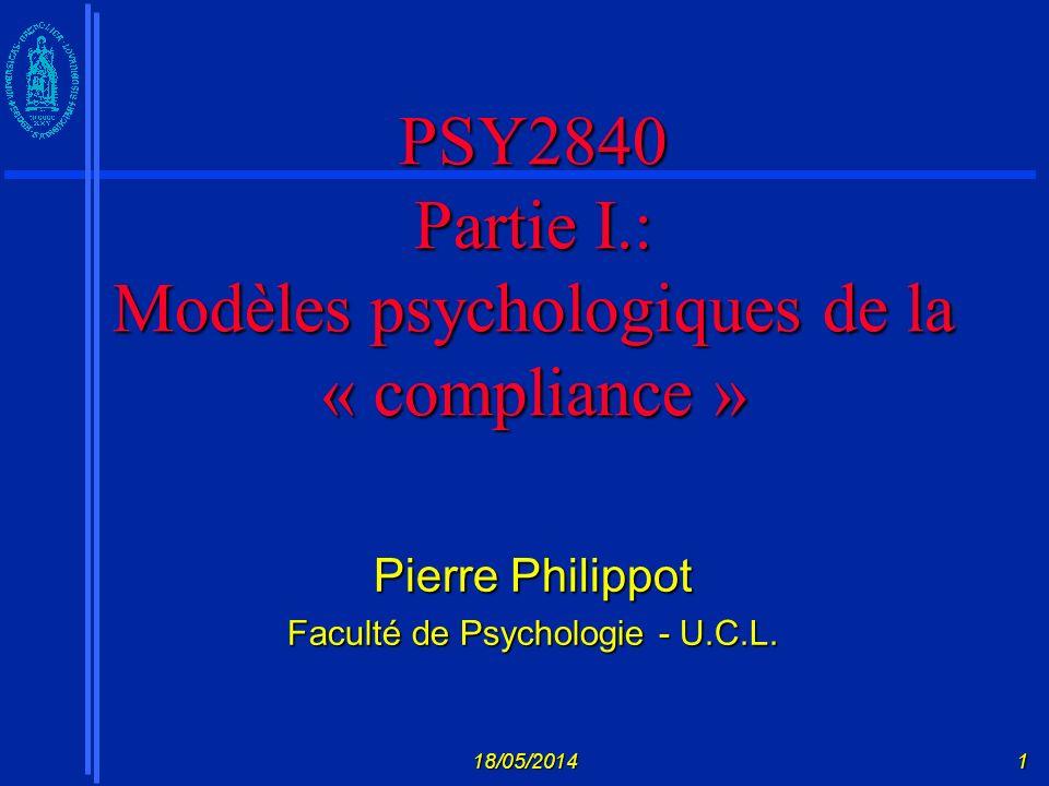 18/05/201412 Origine Comparaison des différentes théories de la psychothérapie et du changement comportemental (+ de 300!).