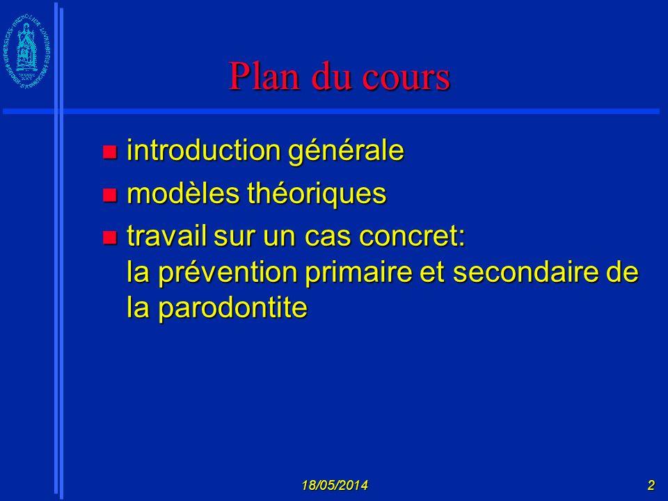 18/05/20143 Modèles théoriques Prochaska et al.(1997) Prochaska et al.