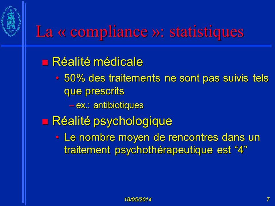 18/05/201438 Modèle de lautorégulation Leventhal et al.