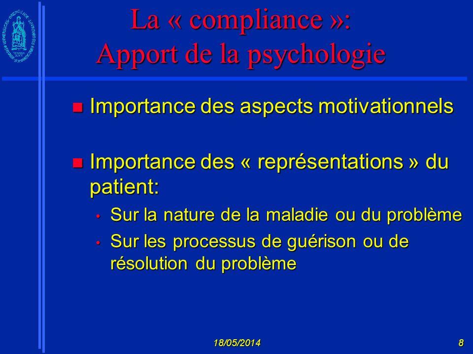 18/05/20149 Section II: les modèles théoriques