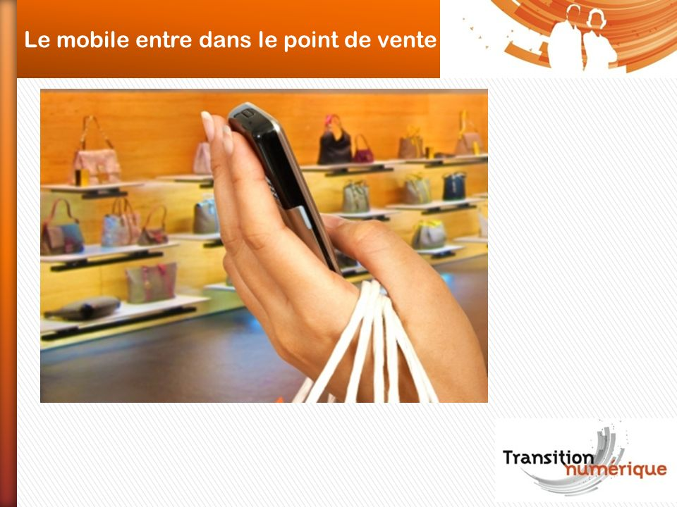 Le mobile entre dans le point de vente