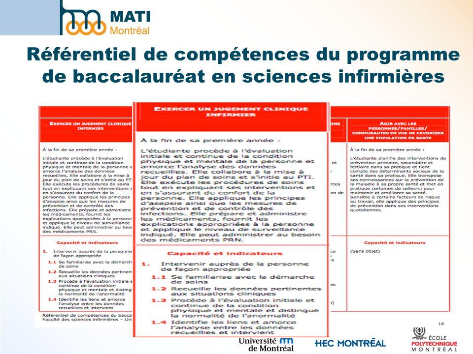 Référentiel de compétences du programme de baccalauréat en sciences infirmières