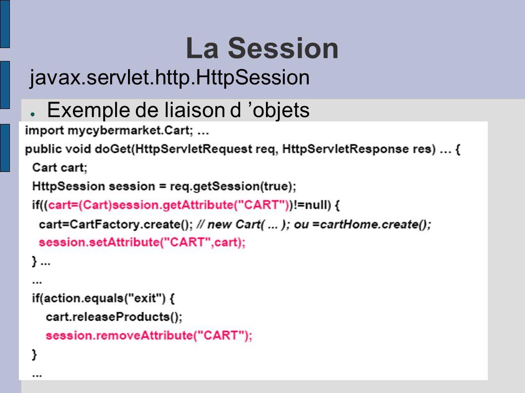 La Session javax.servlet.http.HttpSession Exemple de liaison d objets