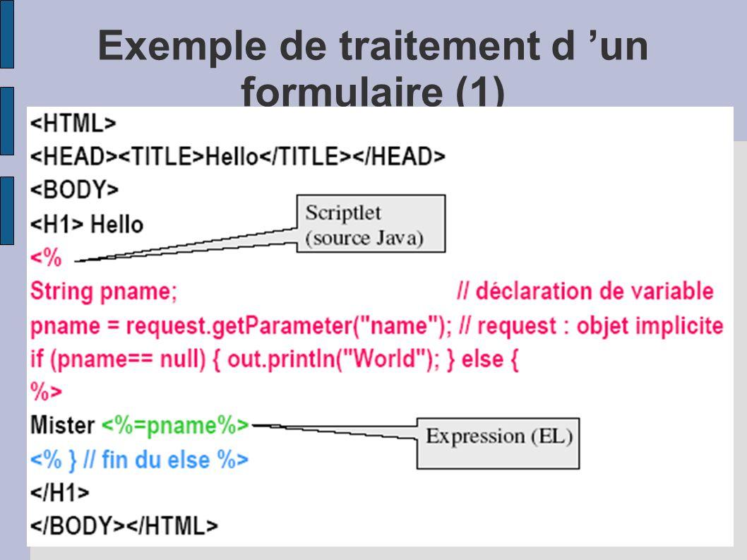 Exemple de traitement d un formulaire (1)