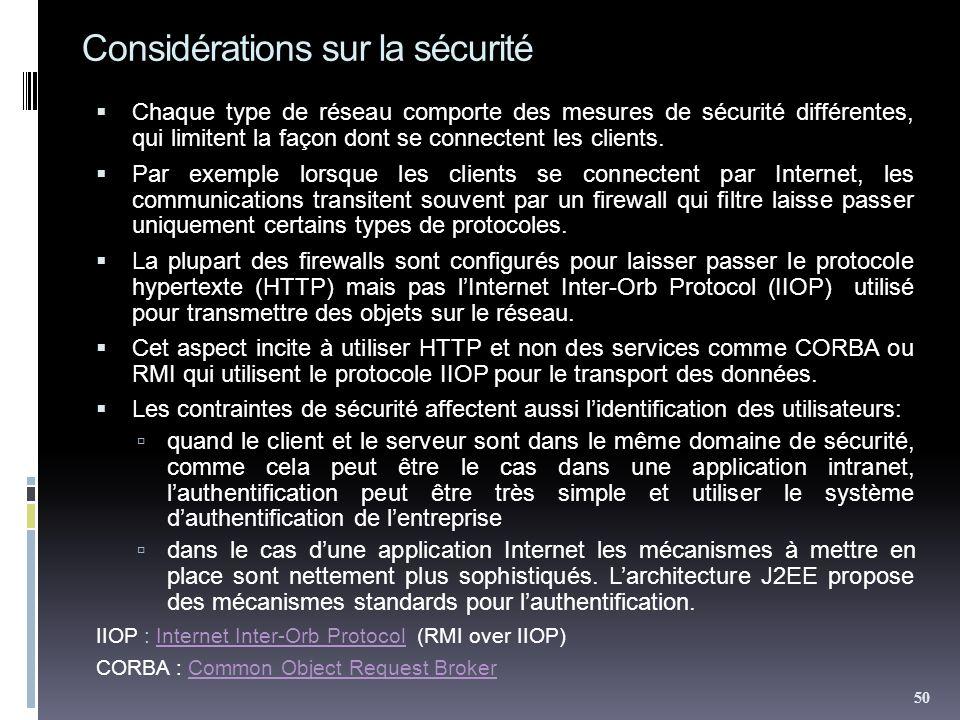 Considérations sur la sécurité Chaque type de réseau comporte des mesures de sécurité différentes, qui limitent la façon dont se connectent les client
