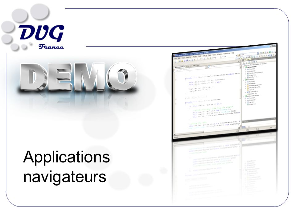Applications navigateurs