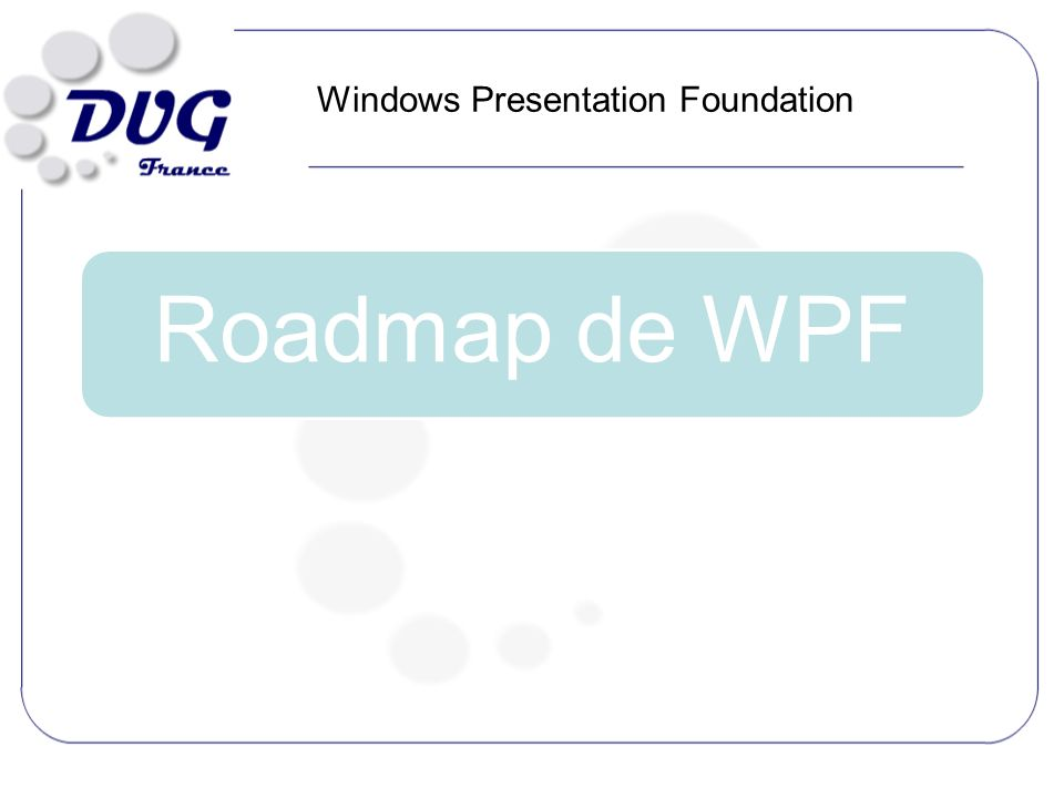 Roadmap de WPF Windows Presentation Foundation