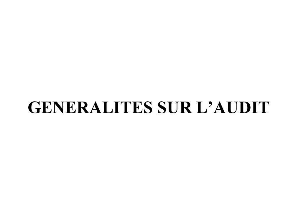 GENERALITES SUR LAUDIT