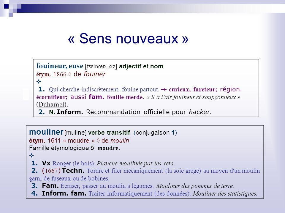 « Sens nouveaux » fouineur, euse [fwinœ ʀ, øz] adjectif et nom étym.