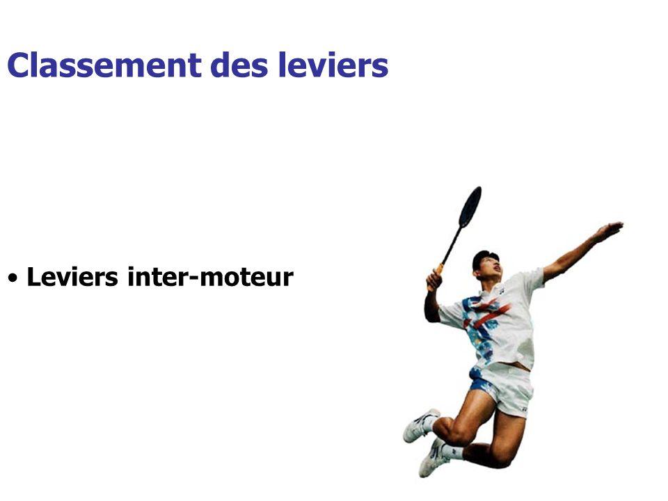 Classement des leviers Leviers inter-moteur