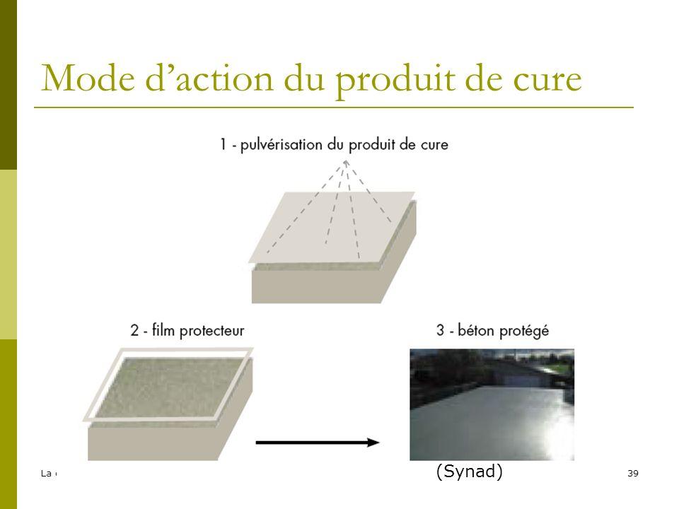 La cure des bétons - EFB39 Mode daction du produit de cure (Synad)